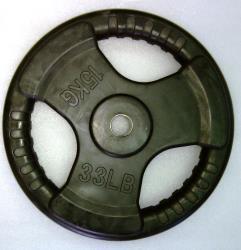 Krangewicht 15 Kg 30mm Bohrung Vollflächig gummiert