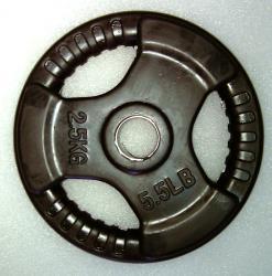 Krangewicht 2 5 Kg 30mm Bohrung Vollflächig gummiert