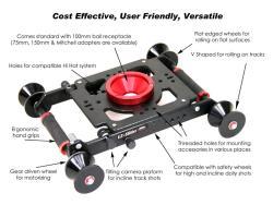 EZFX EZ-Slider und Dolly - universell für Schiene und Boden
