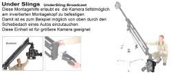 EZFX UNDERSLING - Broadcast Kamerakäfig für bodennahe Aufnahmen