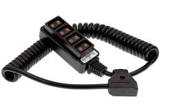 Powertap D TAP Splitter Verteiler 1 auf 4 mit Spiralkabel