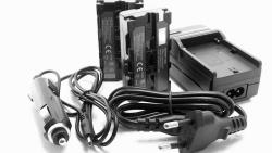 Akkuset für Lilliput A12 Monitor   Ladegerät und 2 Akkus
