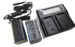 Akkuset für Lilliput Monitore 2 x 7850mAh Ladegerät und 2 Akkus