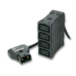 HawkWoods Power-TAP Verteiler 4-fach ( 1 x Stecker auf 4 x Buchse ) PC-11
