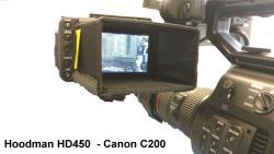Hoodman HD-450 VIDEO Blendschutz für 4 Zoll Monitore und Sucher