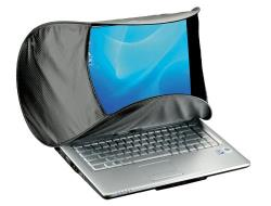 Hoodman HOODPC Sonnenschutzblende für Laptops 14 bis 16 Zoll