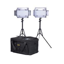 IKAN light kit with 2 x IB508-v2 Bi-color LED Studio Light