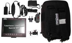 ToteVision LCD-703 HD Set Monitor mit Akkusystem und Tasche