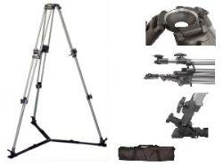 VariZoom VZT100A video tripod with floor spreader