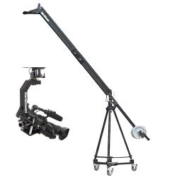 VariZoom VZQUICKJIB2KIT 100 Kamerakran mit Stativ Dolly und Remote Head