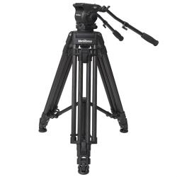 VariZoom VZTKC100C Video tripod with head up to 11Kg cameras