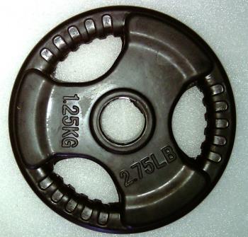 Krangewicht 1,25 Kg 30mm Bohrung Vollflächig gummiert