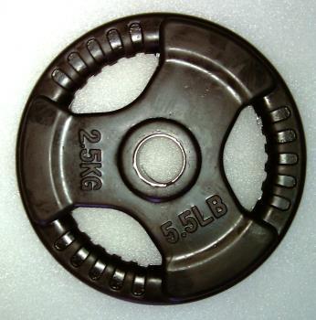 Krangewicht 2.5 Kg 30mm Bohrung Vollflächig gummiert
