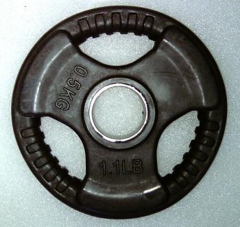 Krangewicht 0,5 Kg 30mm Bohrung Vollflächig gummiert