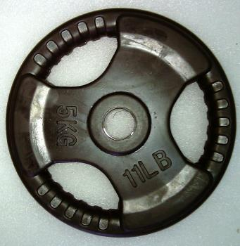 Krangewicht 5 Kg 30mm Bohrung Vollflächig gummiert