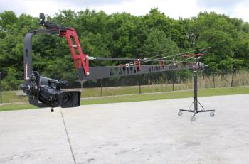 EZFX EZ Crane 7.3 Meter mit Monitorhalter Transporttaschen Pedestal und Remotehead RPT15