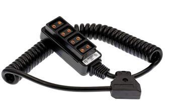 Powertap D-TAP Splitter Verteiler 1 auf 4 mit Spiralkabel