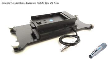 FineVideo Sony NP-F Akkuplatte passend zu Convergent Odyssey Apollo CD-OD-SL