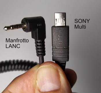 FineVideo LANC Manfrotto auf Sony Micro Multi USB