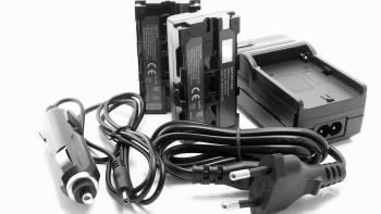 Akkuset für Lilliput A7S Monitor - Ladegerät und 2 Akkus