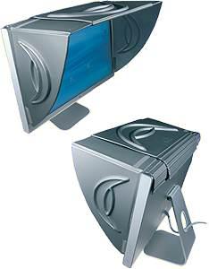 Hoodman Blendschutz Sonnenschutzblende für 13-23 Zoll Monitore E-1323