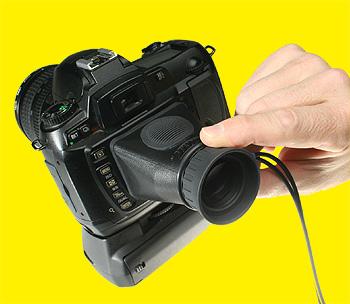 Hoodman H-LPP Monitor Sucheraufsatz für 2.5 Zoll Kamera Displays