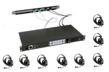 Wireless Intercom System-Set 8 Kanal inklusive 8 HeadSets