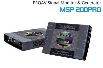 RGBLink MSP 200PRO Testmuster Generator HDMI SDI DVI VGA FBAS MSP200PRO
