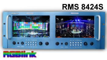 RGBLink RMS 8424S LCD Rack Monitor 2 x 8 Zoll HD