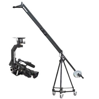 VariZoom VZQUICKJIB2KIT-100 Kamerakran mit Stativ Dolly und Remote Head