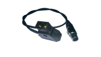 Powertap D-TAP Adapterkabel auf Mini XLR 4 Pol 50cm (male-female)