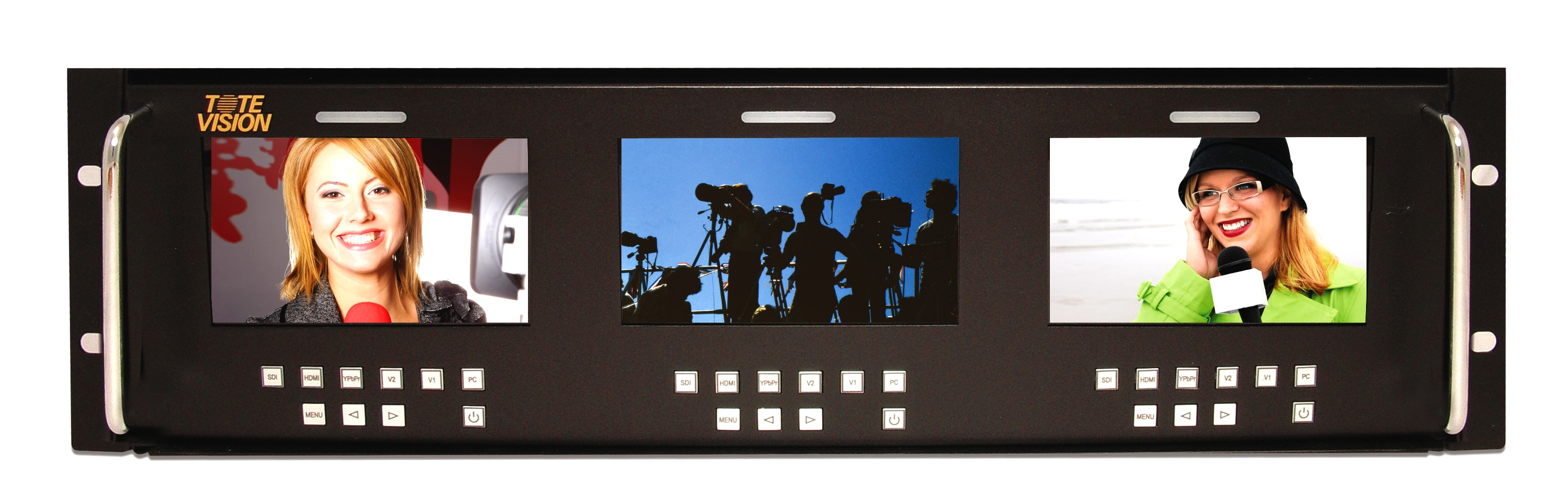 Artikelfoto ToteVision LED-430x4-3GSDI 4x4 Zoll Rackmount Monitor