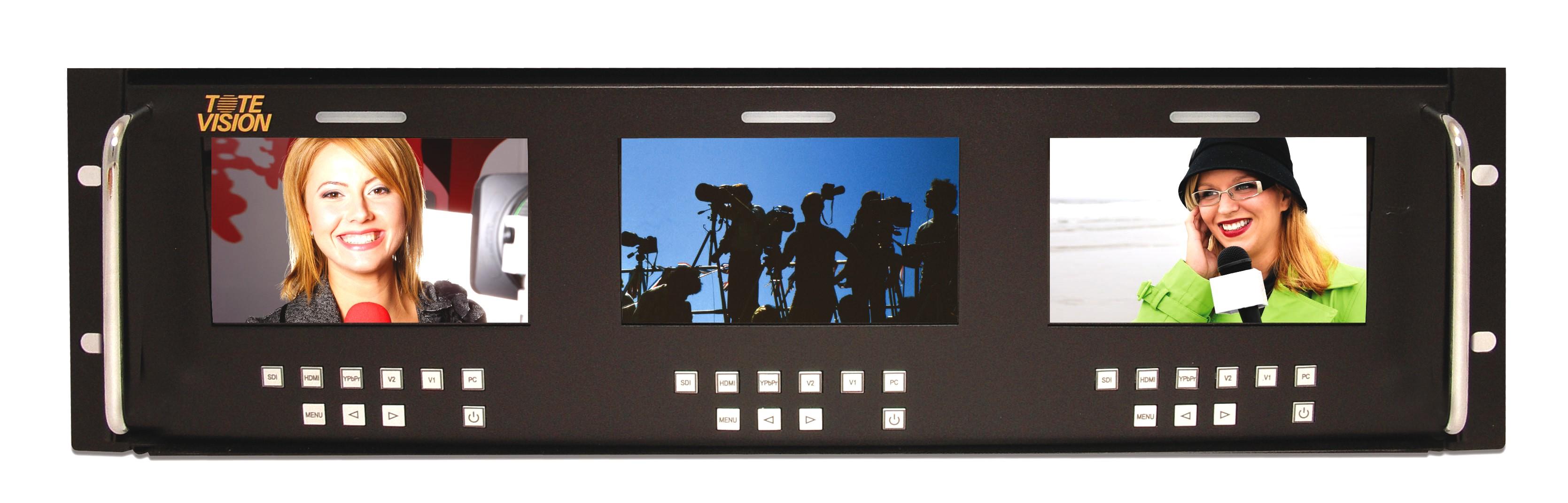 Artikelfoto ToteVision LED-500X3-3GSDI 3x5 Zoll Rackmount Monitor