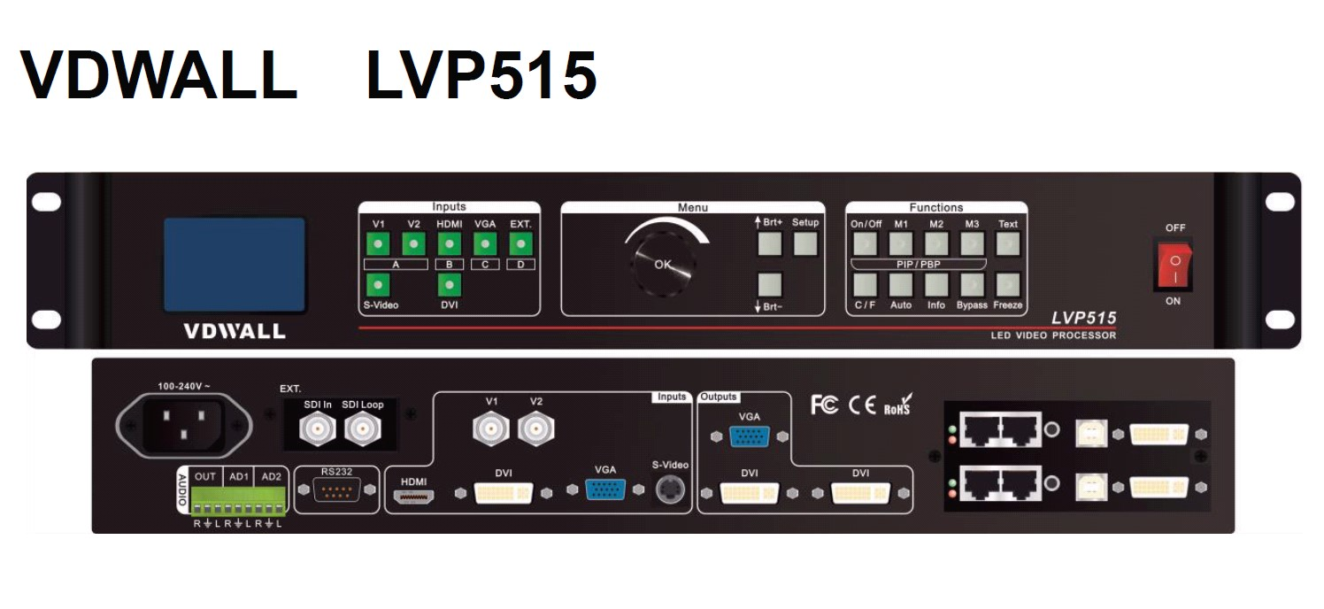 Foto VDWALL LVP515S SDI Switcher Scaler und Konverter für LED WALL