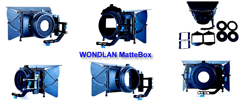 Foto Wondlan Matte Box für 15mm Rods Foto und Video Sonnenblende