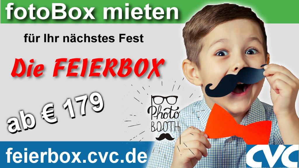 feierBOX - die fotoBOX von CVC